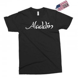 aladdin white logo Exclusive T-shirt | Artistshot