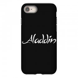 aladdin white logo iPhone 8 | Artistshot