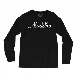 aladdin white logo Long Sleeve Shirts | Artistshot