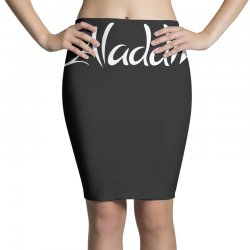 aladdin white logo Pencil Skirts | Artistshot