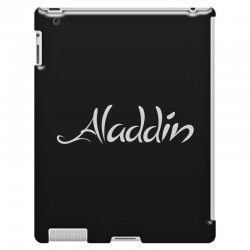 aladdin white logo iPad 3 and 4 Case | Artistshot