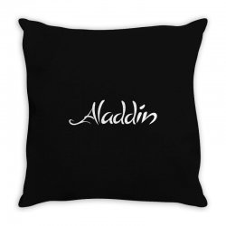 aladdin white logo Throw Pillow | Artistshot