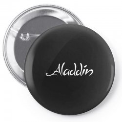 aladdin white logo Pin-back button | Artistshot