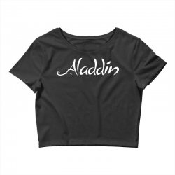 aladdin white logo Crop Top | Artistshot