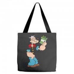 popeye spinach retro mens funny Tote Bags | Artistshot