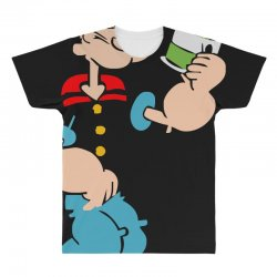 popeye spinach retro mens funny All Over Men's T-shirt | Artistshot