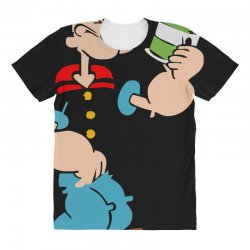 popeye spinach retro mens funny All Over Women's T-shirt | Artistshot