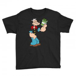 popeye spinach retro mens funny Youth Tee | Artistshot