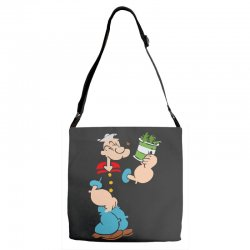 popeye spinach retro mens funny Adjustable Strap Totes | Artistshot