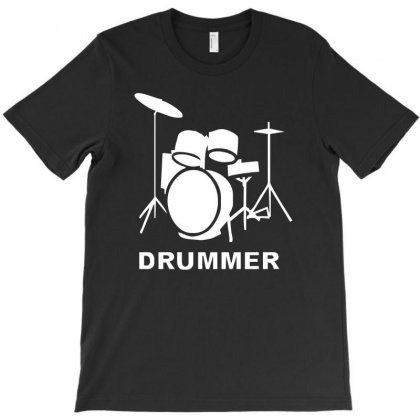 Drummer Drum Kit Indie Rock Music T-shirt Designed By Mdk Art