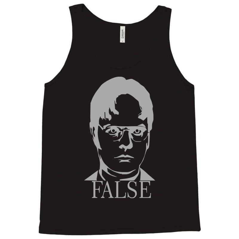 acb67cc86ede61 Custom Dwight Schrute  false  The Office Tank Top By Mdk Art ...