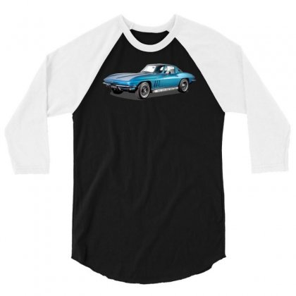 1965 Corvette Sting Ray Classic Car, Ideal Birthday Gift Or Pres 3/4 Sleeve Shirt Designed By Mdk Art