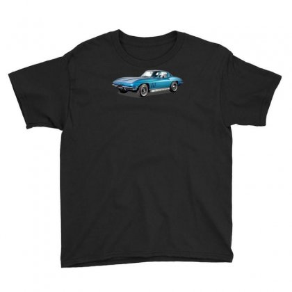 1965 Corvette Sting Ray Classic Car, Ideal Birthday Gift Or Pres Youth Tee Designed By Mdk Art