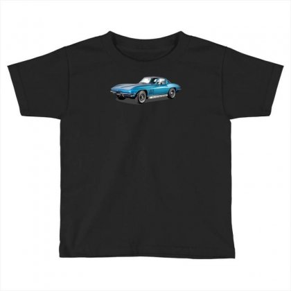 1965 Corvette Sting Ray Classic Car, Ideal Birthday Gift Or Pres Toddler T-shirt Designed By Mdk Art
