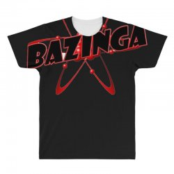 bazinga logo inspired by the big bang theory ideal birthday gift All Over Men's T-shirt | Artistshot