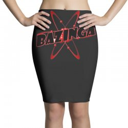 bazinga logo inspired by the big bang theory ideal birthday gift Pencil Skirts | Artistshot