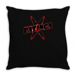 bazinga logo inspired by the big bang theory ideal birthday gift Throw Pillow | Artistshot
