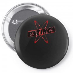 bazinga logo inspired by the big bang theory ideal birthday gift Pin-back button | Artistshot