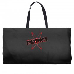 bazinga logo inspired by the big bang theory ideal birthday gift Weekender Totes | Artistshot