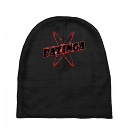 bazinga logo inspired by the big bang theory ideal birthday gift Baby Beanies | Artistshot