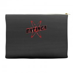 bazinga logo inspired by the big bang theory ideal birthday gift Accessory Pouches | Artistshot