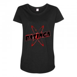 bazinga logo inspired by the big bang theory ideal birthday gift Maternity Scoop Neck T-shirt | Artistshot