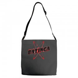 bazinga logo inspired by the big bang theory ideal birthday gift Adjustable Strap Totes | Artistshot