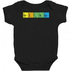 Bazinga Periodic Table Funny Funny Birthday Present Gift Baby Bodysuit Designed By Mdk Art