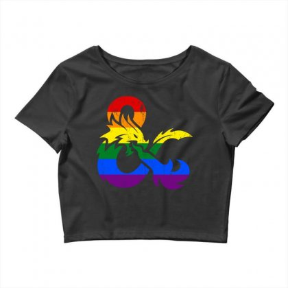 Dungeons And Dragons Lgbtq Crop Top Designed By Sengul