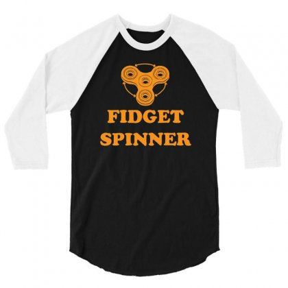 Fidget Spinner 3/4 Sleeve Shirt Designed By Mdk Art