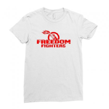 Freedom Fighters Ladies Fitted T-shirt Designed By Mdk Art