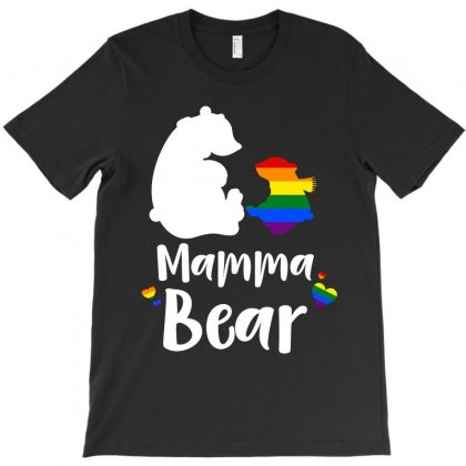 Mama Bear Gay Pride T-shirt Designed By Sengul