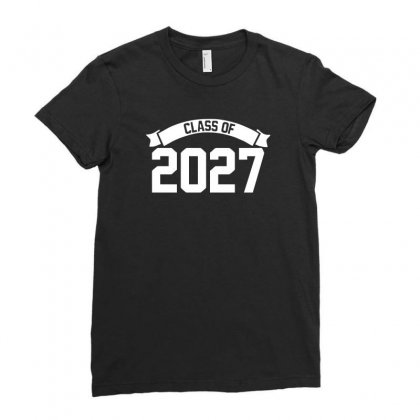 Class Of 2027 Novelty High School Elementary Ladies Fitted T-shirt Designed By Mdk Art