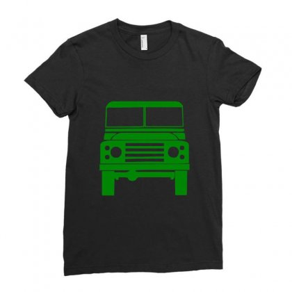 Defender Land Rover Ladies Fitted T-shirt Designed By Mdk Art