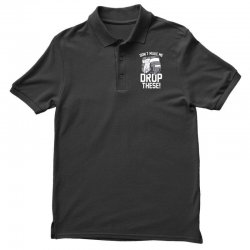 don't make me drop these hockey gloves athletic party sports humor Polo Shirt | Artistshot