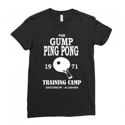Forrest Gump   Ping Pong Camp   Cult Film Ladies Fitted T-shirt Designed By Mdk Art