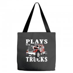 plays with trucks family matching Tote Bags   Artistshot