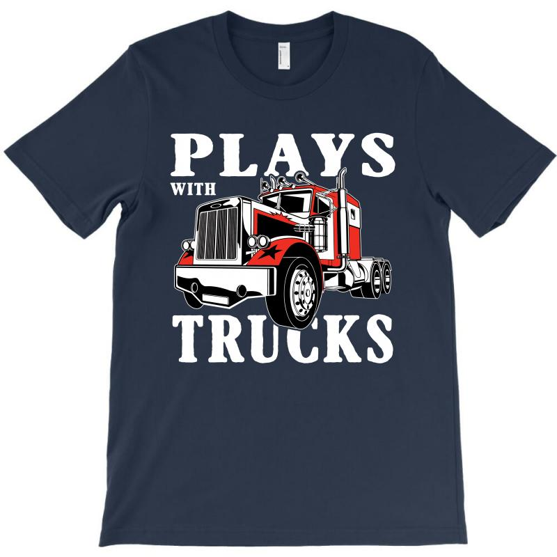 Plays With Trucks Family Matching T-shirt | Artistshot