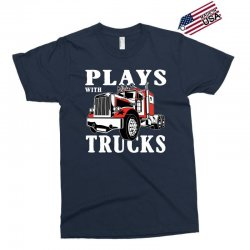 plays with trucks family matching Exclusive T-shirt   Artistshot