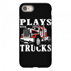 plays with trucks family matching iPhone 8 Case   Artistshot
