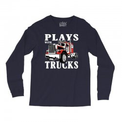 plays with trucks family matching Long Sleeve Shirts   Artistshot