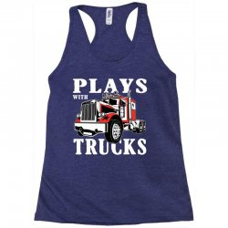 plays with trucks family matching Racerback Tank   Artistshot