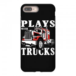 plays with trucks family matching iPhone 8 Plus Case   Artistshot