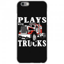 plays with trucks family matching iPhone 6/6s Case   Artistshot