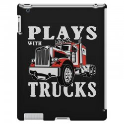 plays with trucks family matching iPad 3 and 4 Case   Artistshot
