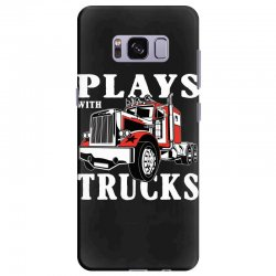 plays with trucks family matching Samsung Galaxy S8 Plus Case   Artistshot