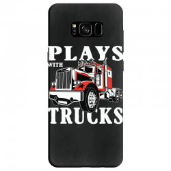 plays with trucks family matching Samsung Galaxy S8 Case   Artistshot