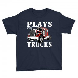 plays with trucks family matching Youth Tee   Artistshot