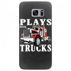 plays with trucks family matching Samsung Galaxy S7 Edge Case   Artistshot