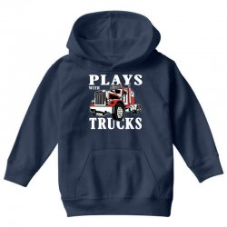 plays with trucks family matching Youth Hoodie   Artistshot